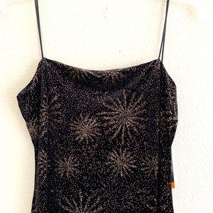 Morgan Co. Spaghetti Strap Open Back Maxi Dress